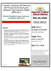 Snapshot of DELAC meeting agenda